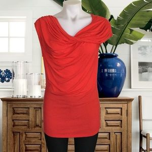Lafayette Red Draped Top